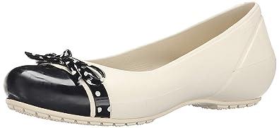 2d8f921c3ce34 crocs Women s Stucco Black Ballet Flats -W7 (201679-16U)  Buy Online ...