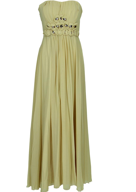 JuJu & Christine Langes Damen Chiffon Abendkleid (A2523) mit Träger vers. Farben Gr. 34 – 52