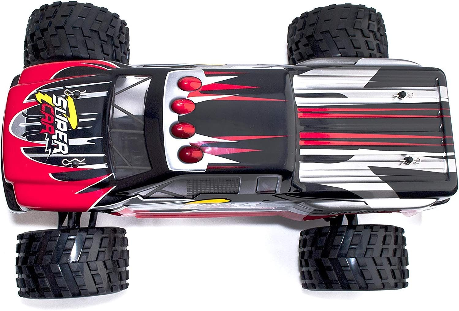ALEKO RCC66969RED 4WD 2.4 Ghz Off Road Electric Power High Speed Monster Truck Red 1/12 Scale [並行輸入品]