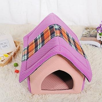 weare casa bonita forma de casa desmontable lavable cama para mascotas como Perros o Gatos con