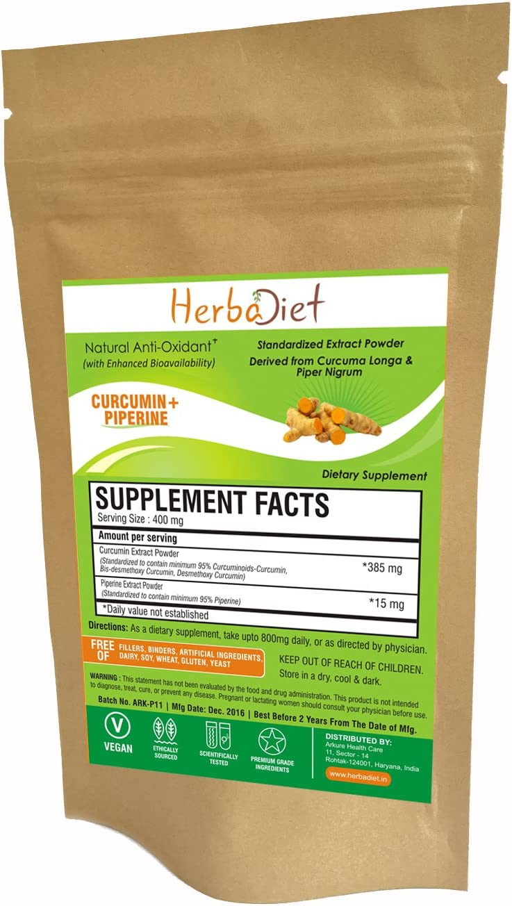 Turmeric Curcumin with Bioperine Natural Turmeric Extract Powder with Black Pepper Extract