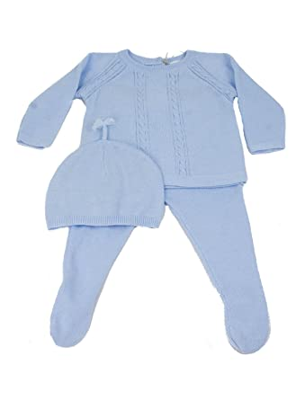 4b66c896c3b6 Angel Dear Baby Boys Cable Sweater Set Gift Outfit Newborn Take Me Home Set  (Newborn