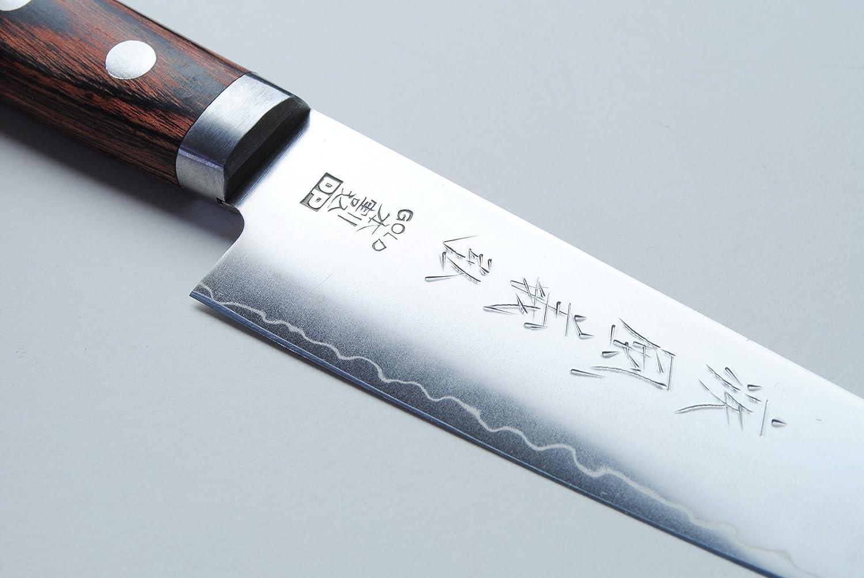 Amazon.com: Yoshihiro VG-1 Gold Steel Petty Utility Japanese Chef ...