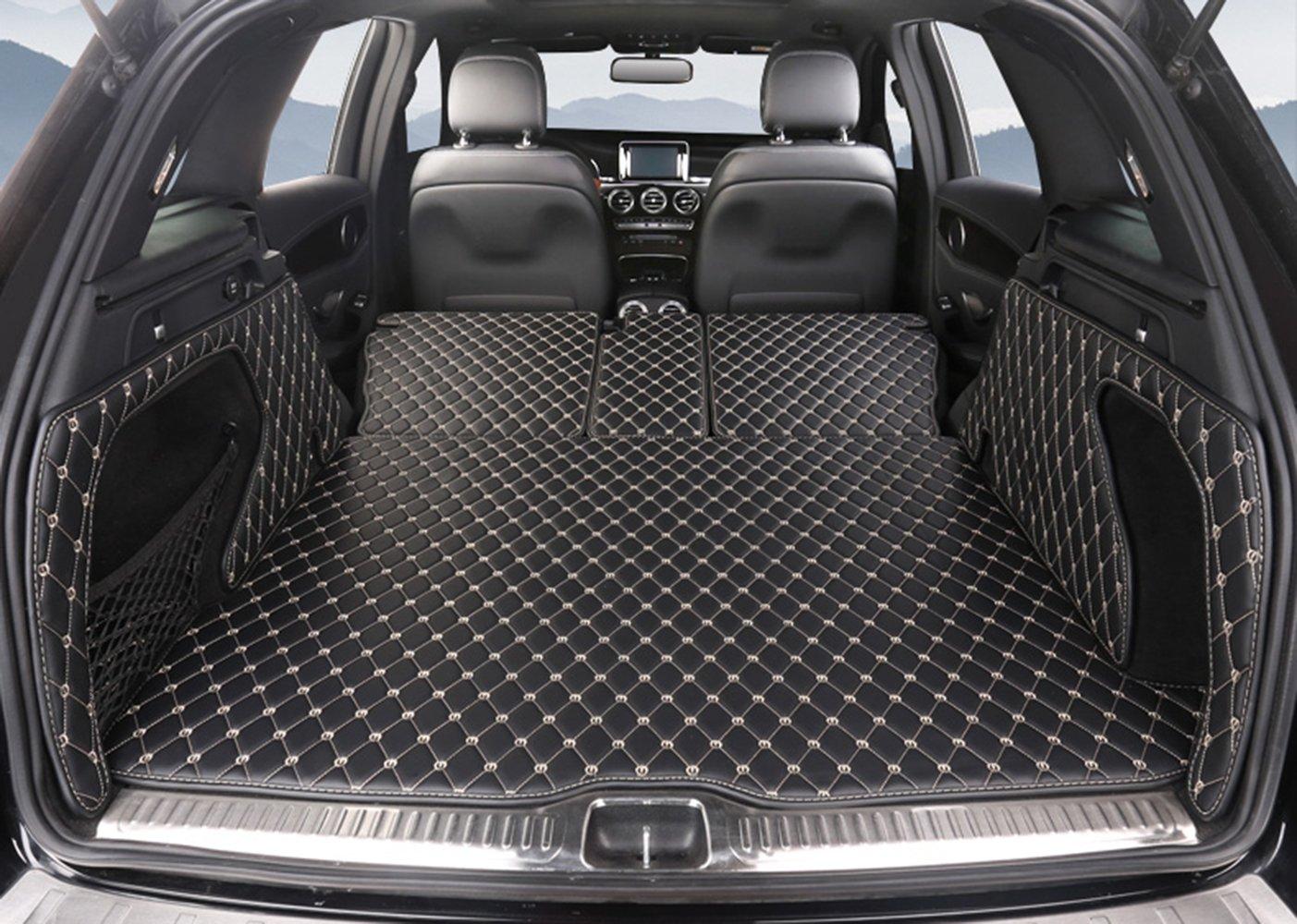 Pegasuss(ペガサス)【メルセデスGLC/Mercedes GLC】専用設計車のトランクマットラゲッジマット防水 - ブラック B01D02TMP8  ブラック