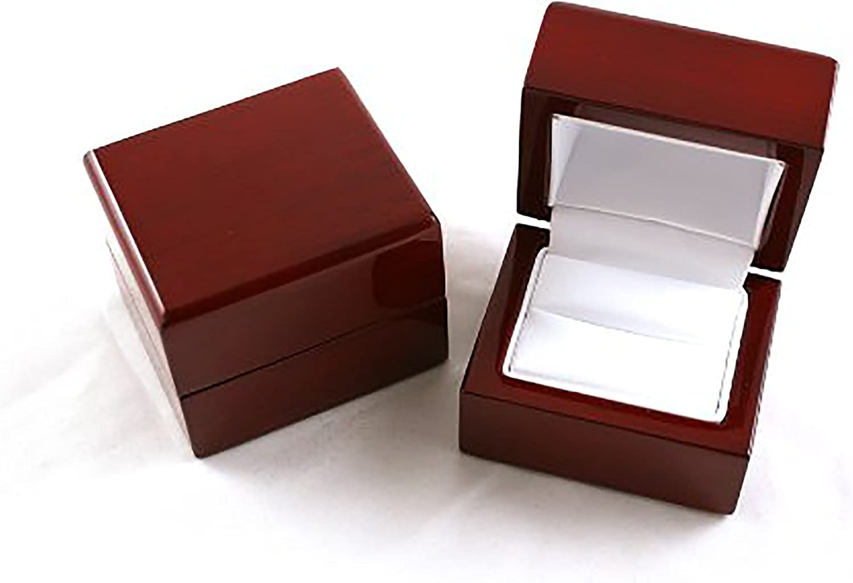 Prettyia Wooden Wedding Ring Box Jewelry Packaging Gift Box Showcase Display