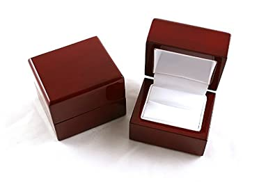Amazoncom Gorgeous Premium Wooden Ring Box With Metal Hinge