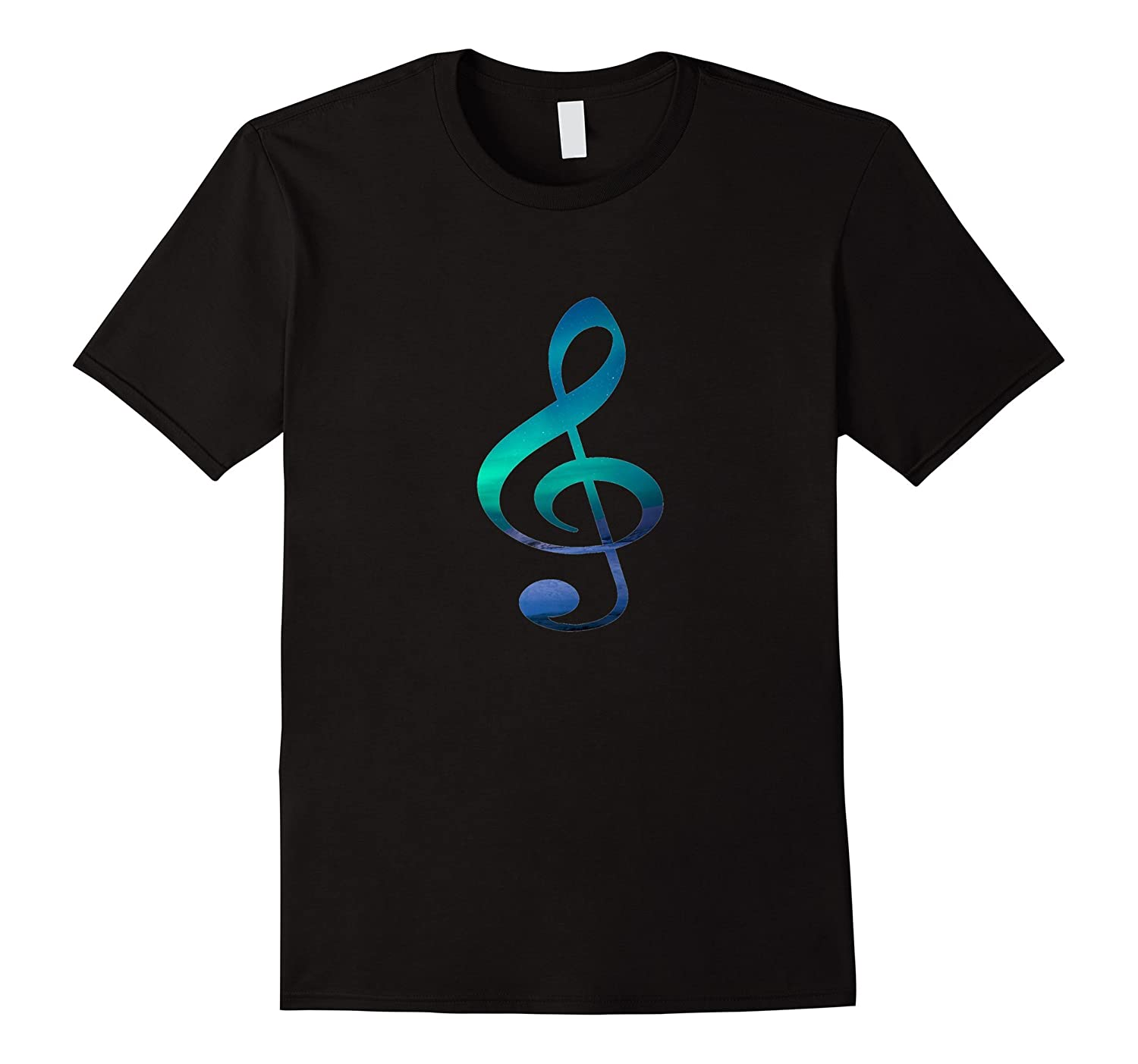 Music Lovers Treble G Clef, Musical Symbol Novelty T-Shirt-Art
