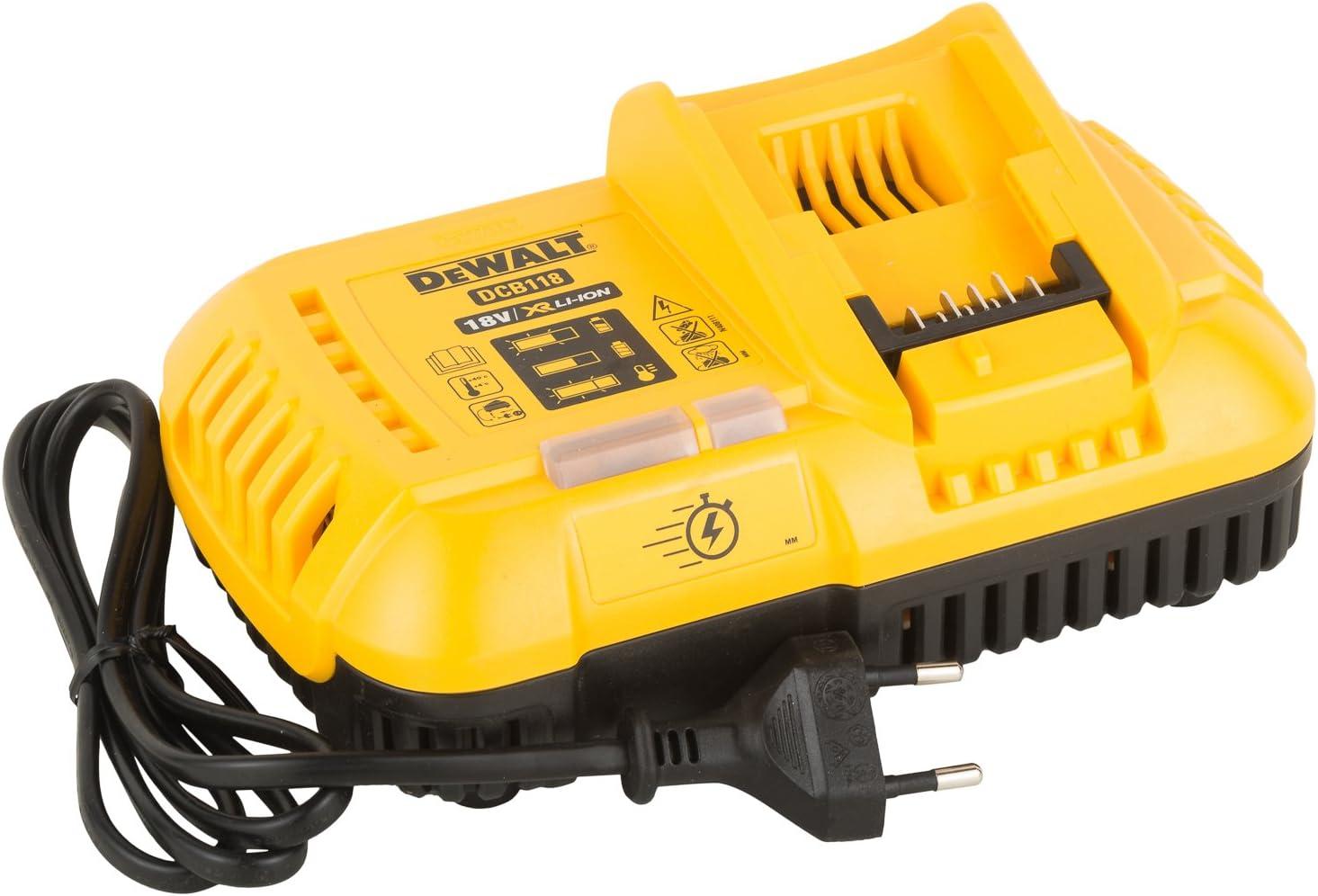 Dewalt DCB118-QW Cargador rápido XR Flexvolt: 54V-18V Carril Li-Ion, 108 W, 52 V