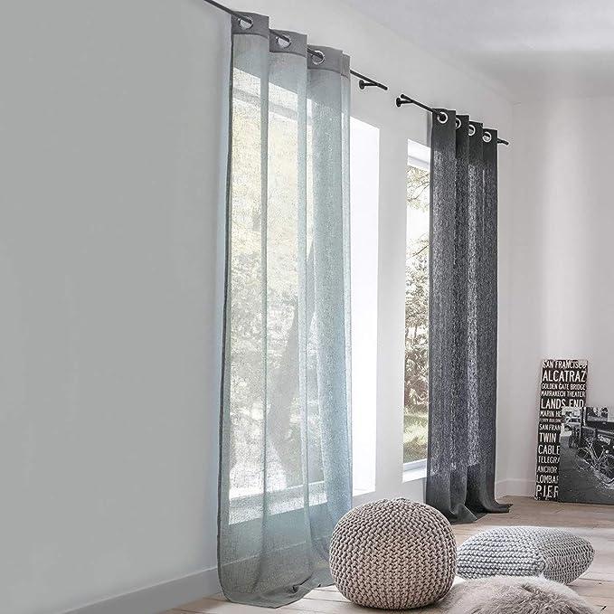 Osenaufhangung 180 X 140 cm La Redoute Interieurs Vorhang Nyong In Leinenoptik