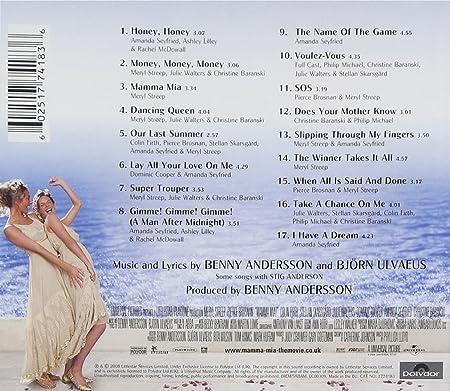 Mamma Mia! The Movie Soundtrack