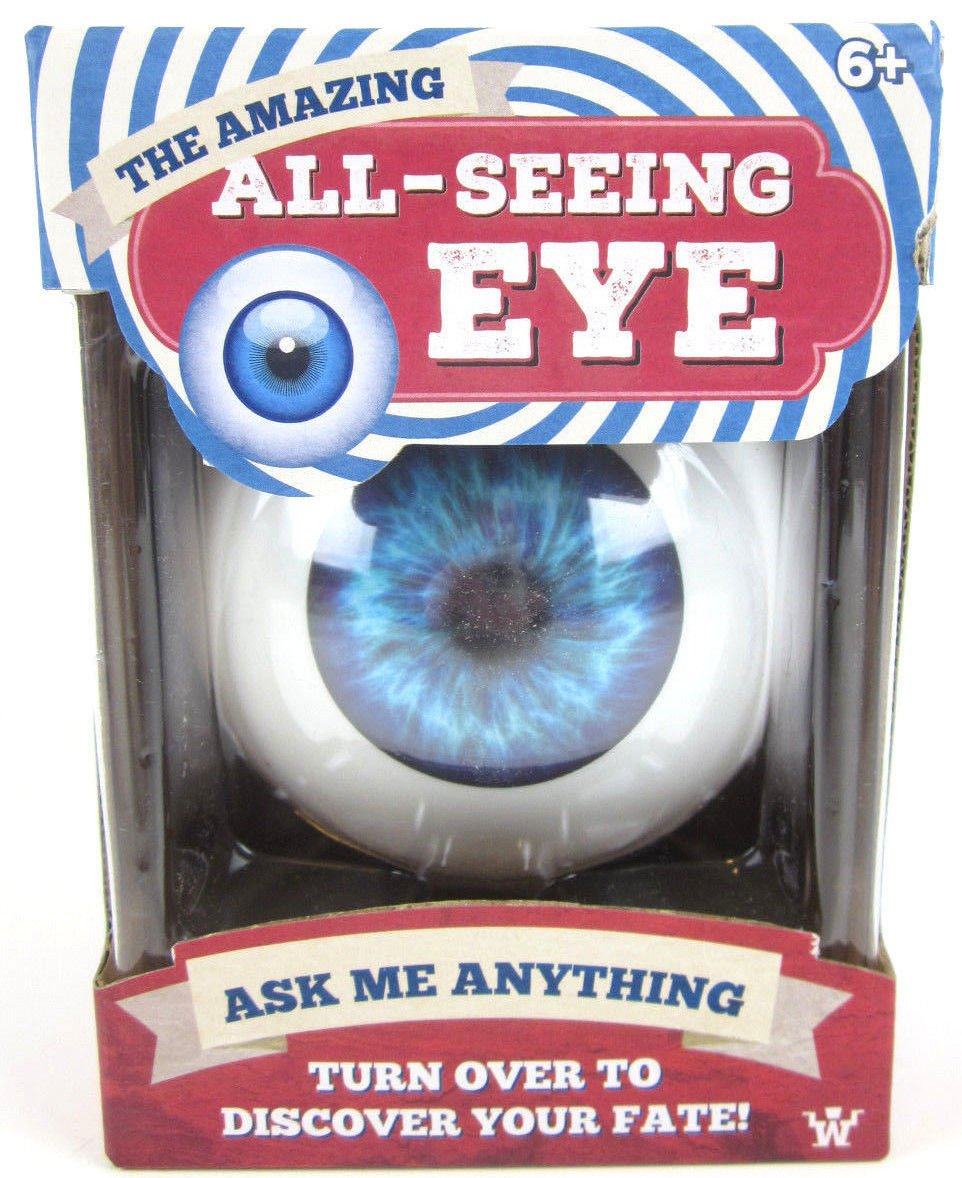 Big Game Toys~All-Seeing EYE Fortune Telling Toy~Classic Ten Answers Eyeball Magic 8 Ball BGT