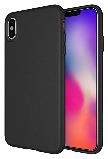 super popular f7ed9 131cf iPhone Xs Max Case, Diztronic Full Matte Soft Touch Slim-Fit Flexible TPU  Case for Apple iPhone Xs Max (Matte Black)