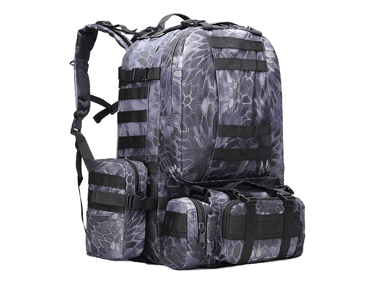 50lタクティカルMOLLE Assault Military RucksacksバックパックハイキングキャンピングバッグTyp   B0797P9MWH