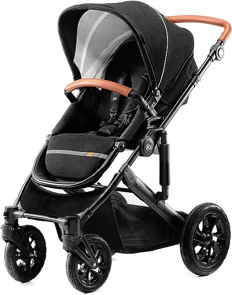 Kinderkraft Silla de paseo de bebe PRIME 3en1 Elegante Trio Cochecito 3 piezas Multifunctional Capazo y silla de coche incluida elementos Reflectantes de seguridad materiales de alta Calidad plegado