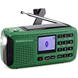 Retekess HR-11S Emergency Radio Solar Hand Crank Radio AM FM Shortwave Radio Dynamo Wireless MP3 Player USB Charger…