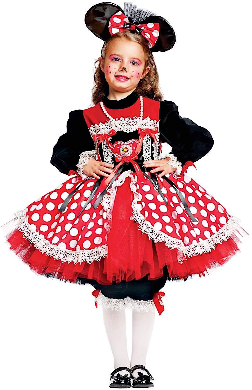 Costume di Carnevale da TOPINA Prestige Vestito per Ragazza Bambina 7-10 Anni Travestimento Veneziano Halloween Cosplay Festa Party 50559 Taglia 7 S