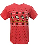 Disney Mickey Mouse Men's Far Isle Christmas Holiday T-Shirt