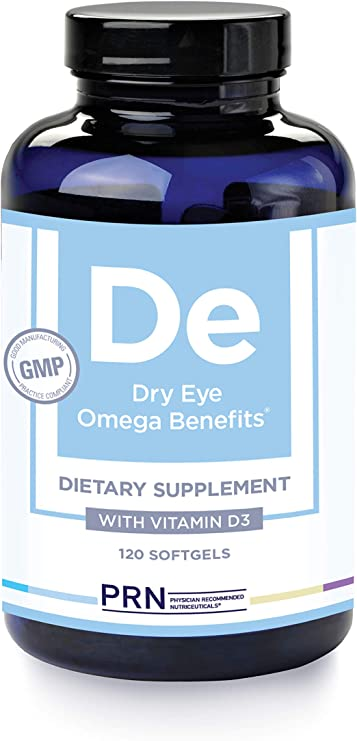 PRN Dry Eye Omega (Original Formula - 4 Per Day Serving) - Support for Eye Dryness - 2240mg EPA & DHA in The Triglyceride Form | 1 Month Supply