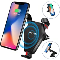 Wireless Charger Phone Holder for Car,Simptech QI Fast Charger Air Vent Phone Mount for iPhone 8/ 8 Plus/ iPhone X/Samsung Galaxy Note 8/ S8/ S8+(Include Quick Charge 3.0 Car Charger)