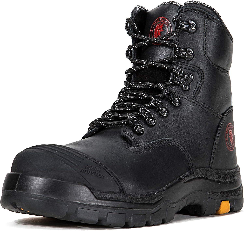 Work Boots for Men, Steel Toe