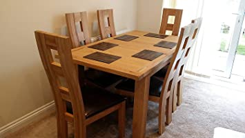 Kelsey Stores Solid Oak Extending Dining Table Six Weston Solid Oak