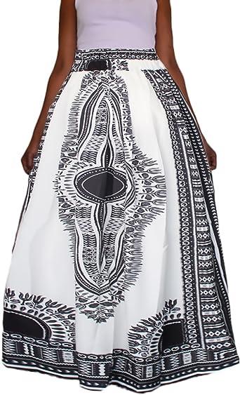 Faldas Mujer Largas Cintura Esencial Alta Hippie Elegantes Etnico ...