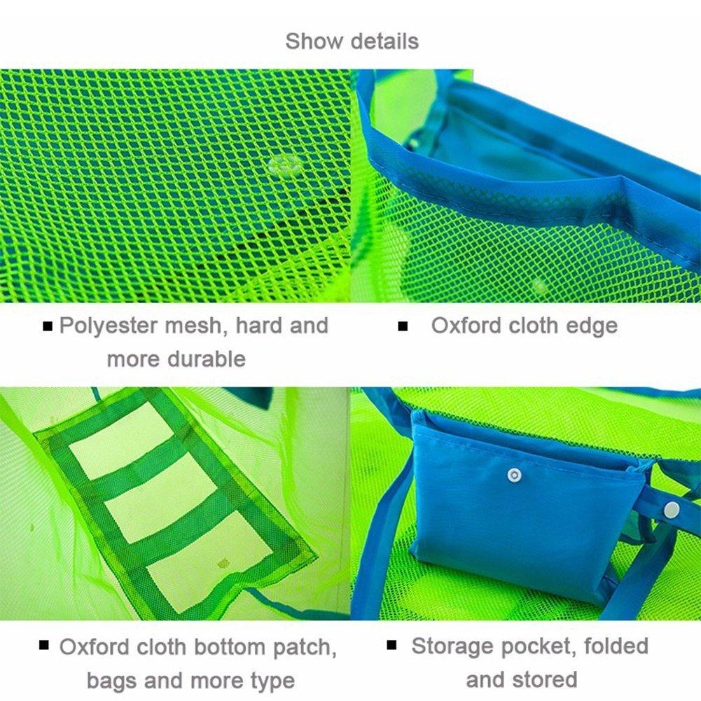 Muscheltasche f/ür Strand XL-Gr/ö/ße Pool Sunreek Strandtasche aus Netzstoff Boot f/ür die Aufbewahrung von Kinderspielzeug