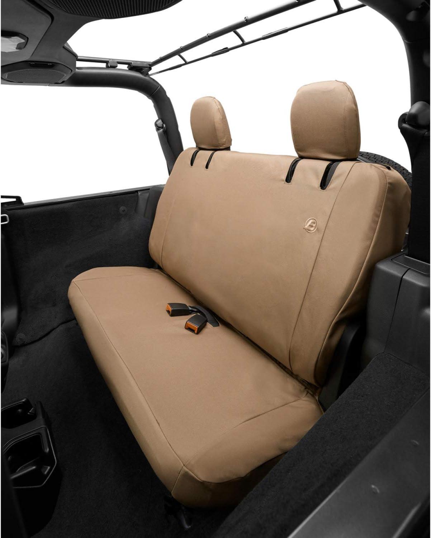 Rear Bestop 2929204 Tan Seat Cover Jeep 2018-Current Wrangler 2-Door