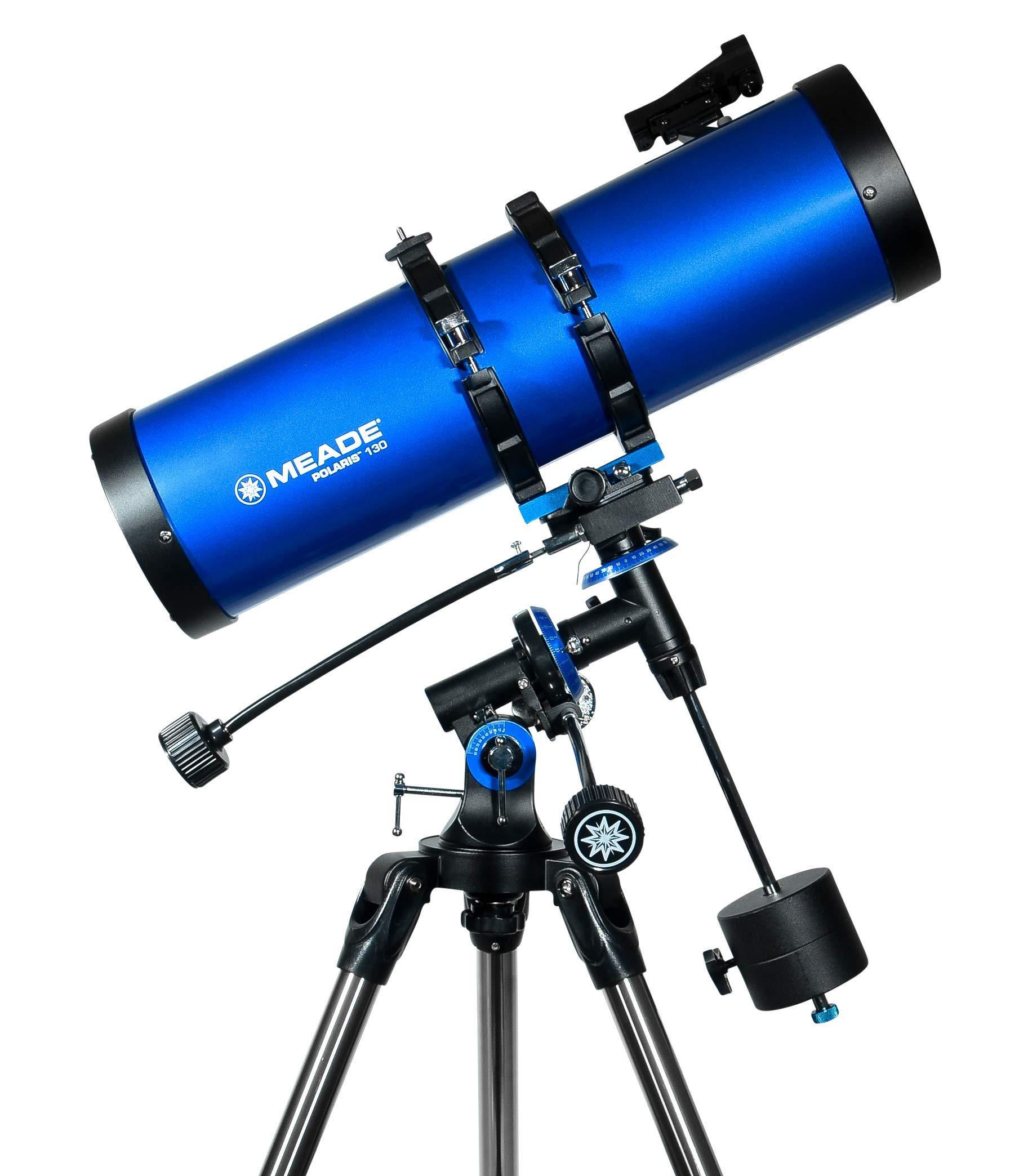 Meade Instruments 216006 Polaris 130 EQ Reflector Telescope (Blue) by Meade Instruments
