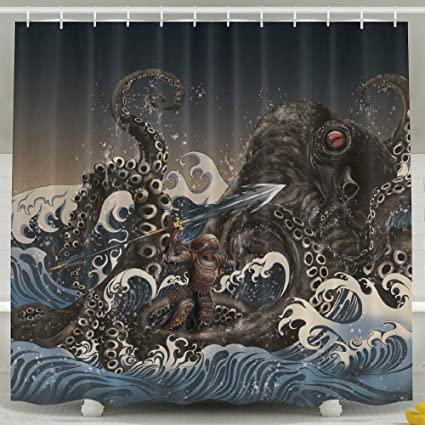 Image Unavailable Not Available For Color Cutlass Kraken Shower Curtain