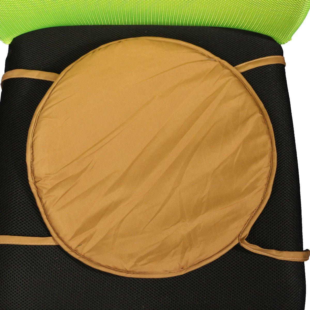 CoCocina 35x35x2cm Round Circular Office Bistro Kitchen Dining Patio Tie On Chair Seat Pad Mat Cushion Dark Gray