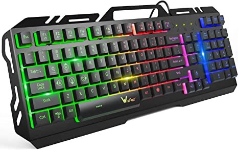 Mechanical Keyboard 104 Keys LED Backlight Gaming Keyboard for PC Gamer Computer Desktop Gaming Keyboard USB Wired Keyboard Black