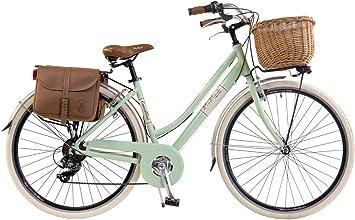 Via Veneto by Canellini Bicicleta Bici Citybike CTB Mujer Vintage Retro Via Veneto Aluminio (Verde Claro, 46): Amazon.es: Deportes y aire libre