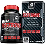 BRI Nutrition Testrone - Testosterone Booster For Men With Diindolylmethane + Tongkat Ali + Tribulus Terrestris + Magnesium Sulfate Anhydrous + Boron + Zinc - 30 Day Supply, 60 Vegetable Capsules