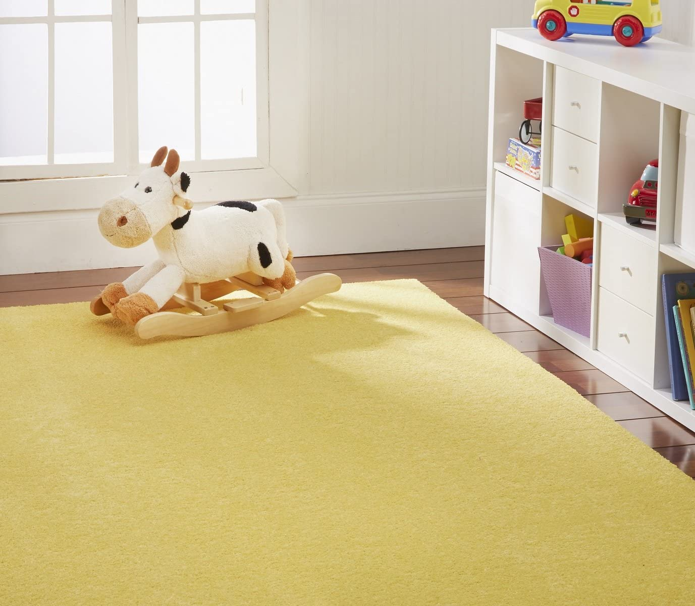 Nance Industries Ourspace Bright Area Rug, 3-Feet by 5-Feet, Sunshine Yellow