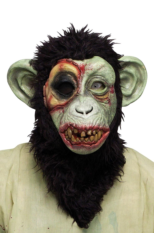 Amazon.com: Chimp Mask / Monkey Mask Full Head Latex Mask ...