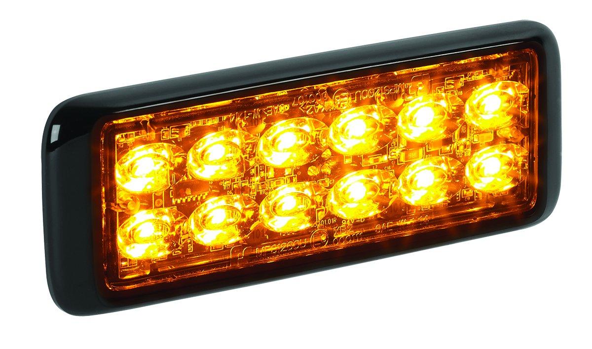 Federal Signal MPS1220U-RA MicroPulse Ultra Red//Amber Dual Class 1 24-LED Warning Light