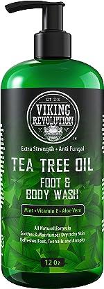 Antifungal Tea Tree Wash for Men - Helps Athlete's Foot, Toenail