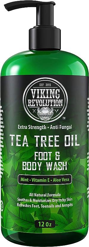 Antifungal Tea Tree Wash for Men - Helps Athlete's Foot, Toenail Fungus, Jock Itch, Eczema, Ringworm & Body Odors - Extra Strength Men's (Body Wash)