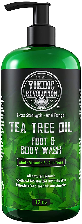 Antifungal Tea Tree Oil Body Wash Soap for Men - Helps Athlete's Foot, Toenail Fungus, Jock Itch, Eczema, Ringworm & Body Odors - Extra Strength Men's Body Wash