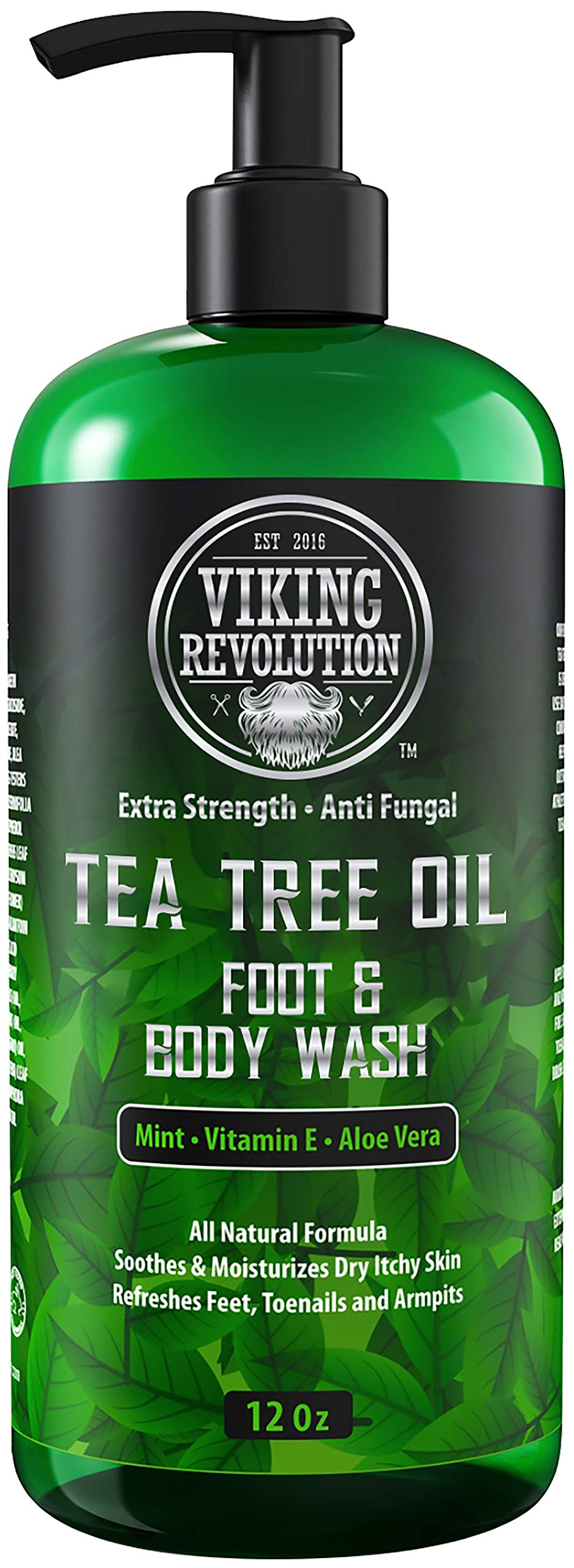 Antifungal Tea Tree Wash for Men - Helps Athlete's Foot, Toenail Fungus, Jock Itch, Eczema, Ringworm & Body Odors - Extra Strength Men's (Body Wash)