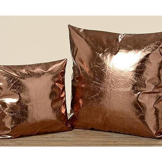 Funda de cojín Boltze cobre, 60 x 60 cm brillante: Amazon.es ...