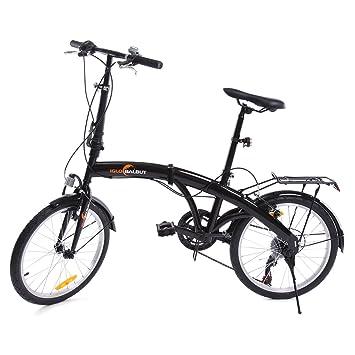 "iglobalbuy 20 ""6 velocidades para bicicleta plegable de almacenamiento plegable para bicicleta, ..."