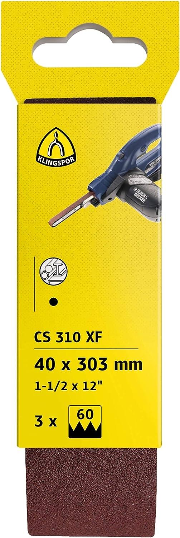 CS 310 XF Klingspor 71112 Bandas para Limas El/éctricas F4G 100 Grano 10 mm x 330 mm