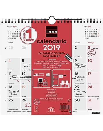 Finocam 780060019 - Calendario de pared 2019