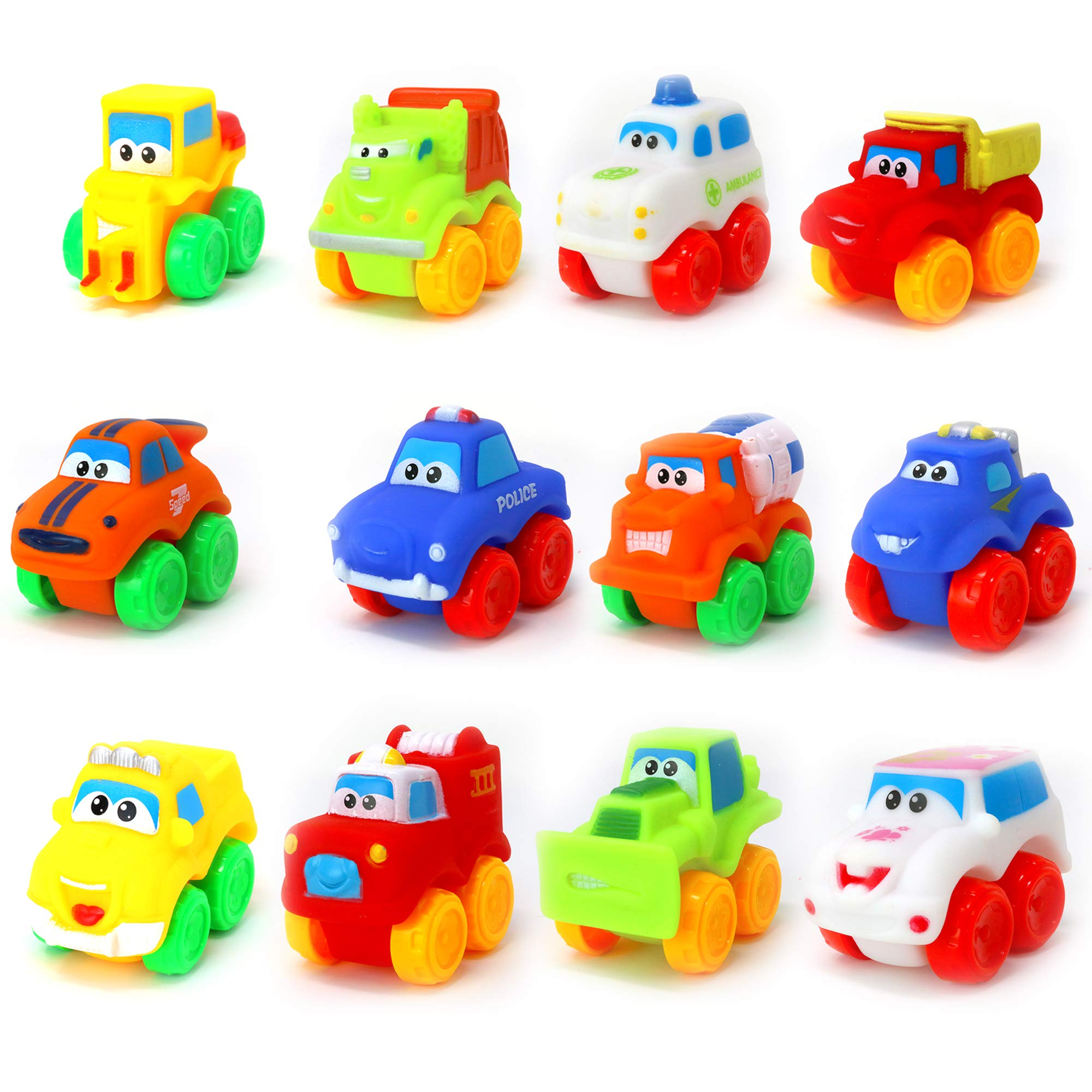 Big Mo's Toys Baby Cars - Soft Rubber Toy Vehicles for Babies and Toddlers - 12 Pieces by Big Mo's Toys (Image #1)