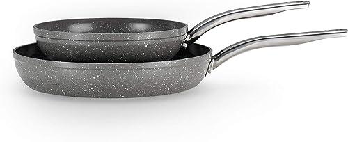 T-fal C412S2 Endura Granite Fry Pan Set
