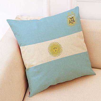 zantec Creative World Cup equipo de fútbol manta funda de almohada (sin almohada interior)