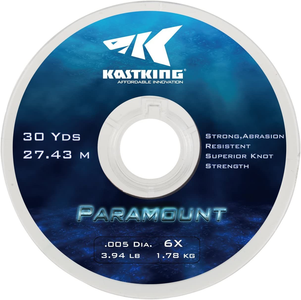 KastKing Paramount Tippet Spools Fly Fishing Line – Nylon Multiplex Monofilament -Abrasion Resistent for Freshwater or Saltwater – Wide Assortment, Size 2X to 6X Available – 3 Spool 5 Spool
