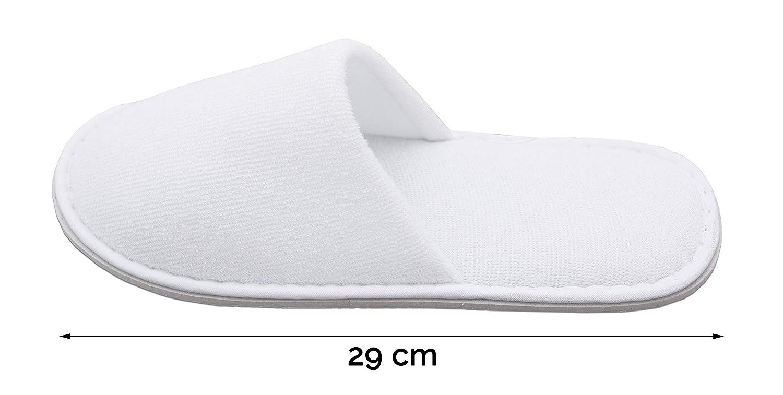 ZOLLNER 10 Pares de Zapatillas de Viaje, Blancas, de Rizo, Talla única: Amazon.es: Hogar